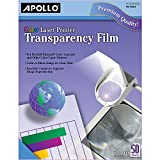 APOLLO Transparency Film for Laser Printers, Color, 50 Sheets/Pack (VCG7070), Clear