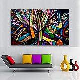 ganlanshu Pintura sin Marco Graffiti Street Art Lienzo Colorido Abstracto decoración póster decoración del hogarZGQ5378 50X75cm