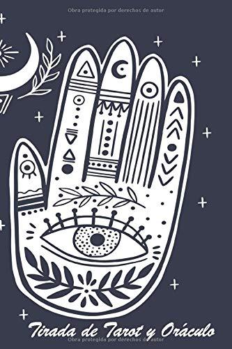 Tirada de Tarot y Oráculo: | Libro de tiraje | Carnet de 120 cartas pre-rellenadas para completar | Tamaño 15,24 x 22,86 cm | Genial para regalo