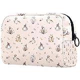 Bolsa de cosméticos de viaje para mujer, bolsa de cosméticos bonita, divisor ajustable, para cosméticos, herramientas de maquillaje, cosméticos, cosméticos, animales y pájaros
