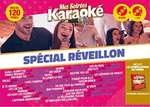 Mes Soirées Karaoké 2020 Coffret 10 DVD + 1 CD Spécial Réveillon