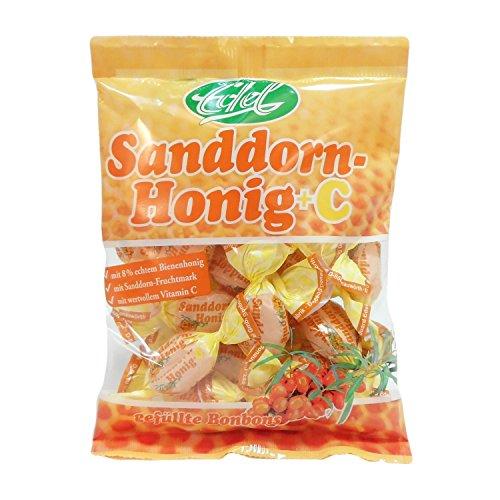 Sanddorn Honig + VC gefüllt 100 g Beutel Edel-Bonbon