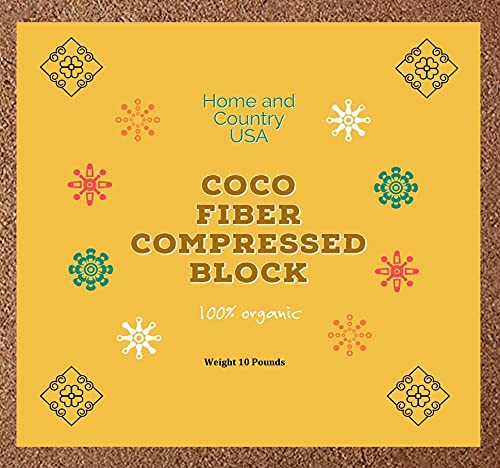 Home and Country It is very popular Coconut Fiber Mix Compressed Bric Block Potting Ranking TOP4