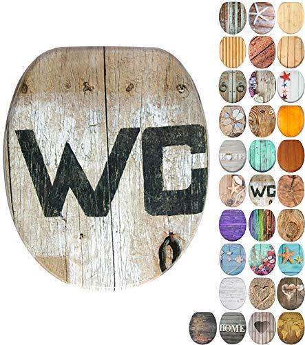 WC Sitz, viele schöne Holz WC Sitze zur Auswahl, hochwertige und stabile Qualität (Old Style)
