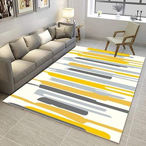 Moderne Einfache rutschfeste Rechteckige Teppiche, Sofa Couchtisch Computerstuhl Schlafzimmer Waschbare Dekormatte (Größe: 80 & Mal; 120 cm)