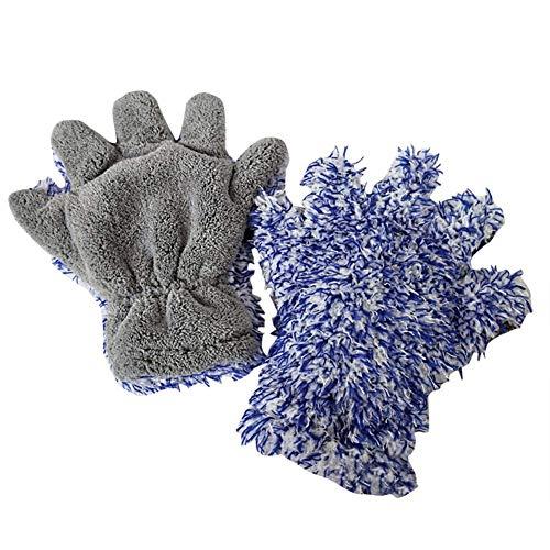 30x27.5cm Car Care Maximum Absorbancy Glove Microfiber Wash Mitt Cleaning Grey