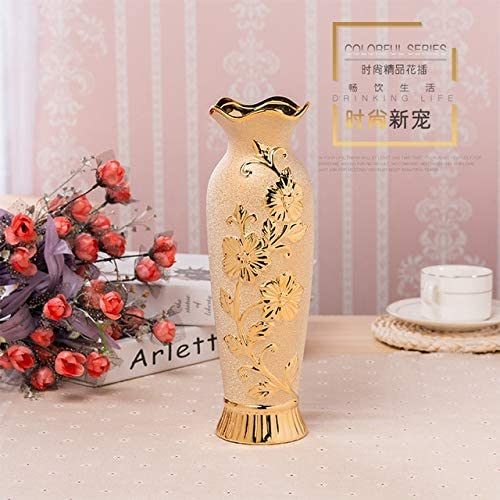 Gold Max 81% OFF Plated Vase Ceramic for Decorative-Ceramic Vases Bombing new work Flow