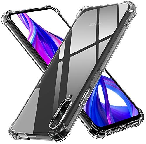 ivoler Klar Silikon Hülle für Huawei P Smart Pro 2019/2020 / Honor 9X Pro mit Stoßfest Schutzecken, Dünne Weiche Transparent Schutzhülle Flexible TPU Durchsichtige Handyhülle Kratzfest Hülle Cover