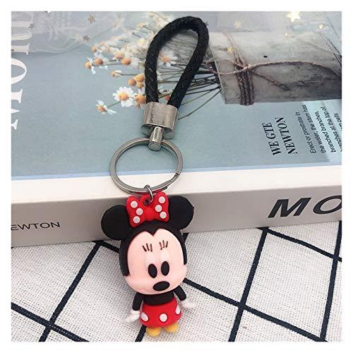 Colgante Llavero Mickey Mouse Minnie Stitch Llavero Lindo Dibujos Animados Nieve Blanco Piglet Winnie El Pooh Figuras Colgante para Llavero De Bolsa De Coche (Color : 2)