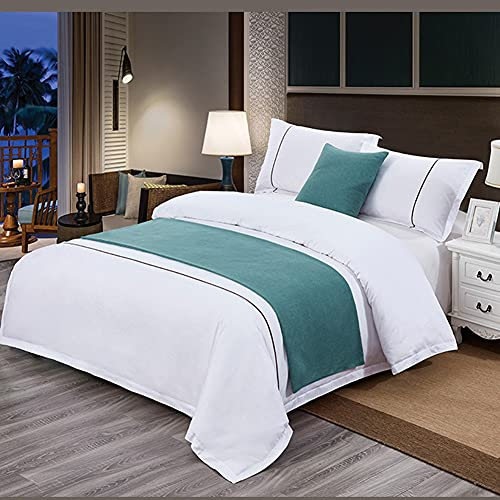 Mrzyzy Bed Runner Suave y Lujoso Decorativo y Protector Moderno Impresión Reactiva Abstracta Simple de Estilo y Teñido Camas de Habitación de Hotel Colcha de Lujo