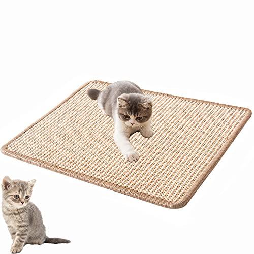 1 Stück Natürlicher Sisal Katzenkratzmatten, Kratzbrett für Katzen, Katzenkratzmatte,Natürliches Sisalmaterial,Krallenpflege Sisalteppich, Geeignet für Fußbodenheizung, Sofa (Wie Das Bild Zeigt)