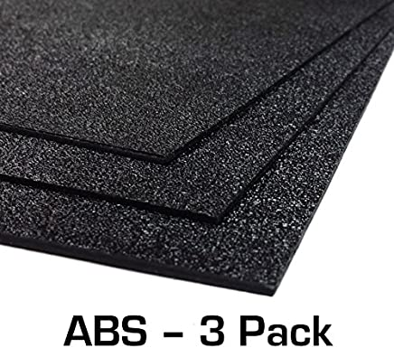 """ABS Plastic Sheet 3-pack 12"""" X 24"""" X 0.0625"""" (1/16"""") with Resource Kit for VEX Robotics Teams"""