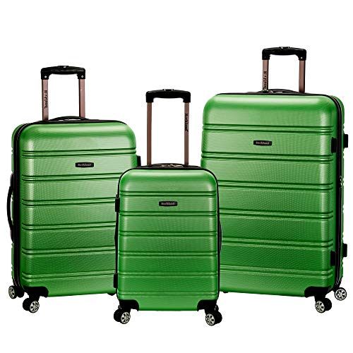 Rockland Melbourne Hardside Expandable Spinner Wheel Luggage, Green