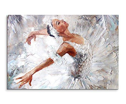 Sinus Art Wandbild 90x60cm Fotodruck aus Ölgemälde – Ballerina auf Leinwand für Wohnzimmer, Büro, Schlafzimmer, Ferienwohnung u.v.m. Gestochen scharf in Top Qualität