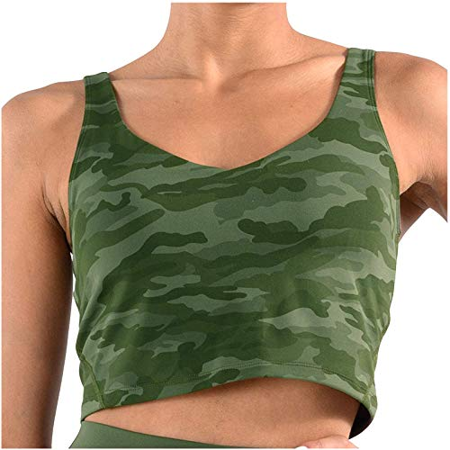 Dicomi Fashion Women's Fitness Running Yoga Tank Tops Camouflage Print Blouses Tights Vests