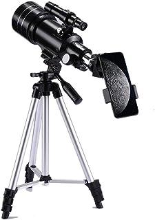天体望遠鏡 初心者 子供用 屈折式 天体 望遠鏡 セット スマホ撮影 70mm大口径 150倍 焦点距離300mm 日本語説明書付き