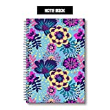 Jungle Flowers Spiral College Ruled Notebook, Wired Note Book,100 Pages Writing Journal, Home School Supplies for College Students