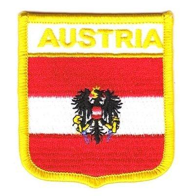 Wappen Aufnäher Patch Österreich mit Wappen Fahne NEU by FahnenMax®