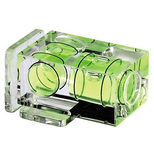 Hama camera-waterpas met 1 libel en flitsschoenafdekking, voor standaard flitsschoen, transparante behuizing, 2 libels.