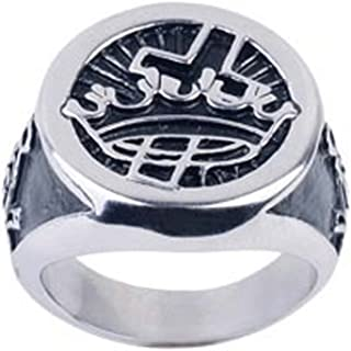 Knights Templar Masonic Ring - York Rite Templar - Mason Knights of Templar Cross and Crown Freemason Ring / Masonic Ring for sale - Enamel & Stainless Steel Band. Masonic Jewelry