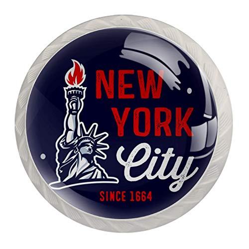 HEOH Tirador de manijas de cajón para el hogar, Cocina, tocador, Armario,La Ciudad de Nueva York