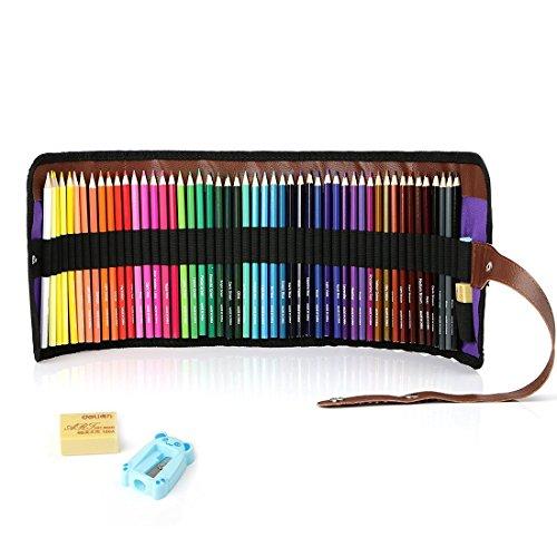 50 Piece Artist Grade Color Pencils Set with Pencil Sharpener and Eraser