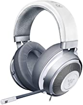 Razer Kraken Auriculares Gaming con cable para juegos multiplataforma para PC, PS4, Xbox One & Switch, Diafragma 50 mm, Cable de 3.5mm con controles de línea Color Blanco (Mercury)