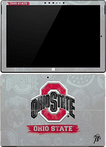 Skinit Decal Tablet Skin Compatible with Surface Pro 4 - Officially Licensed Ohio State University Ohio State Distressed Logo Design