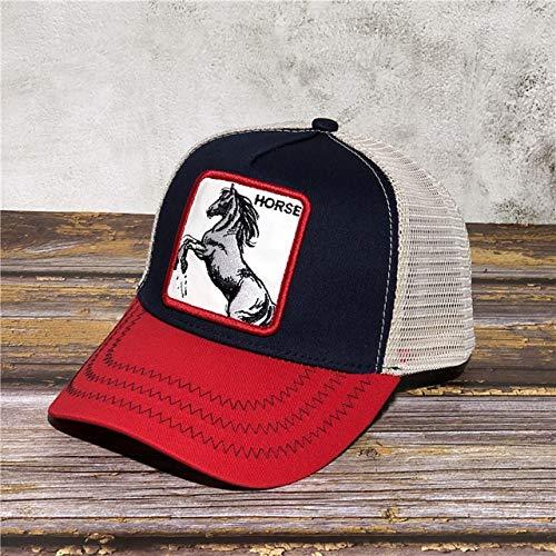 Gorra de Red de béisbol de Dibujos Animados para Hombres Sombrero de Primavera Verano sombrilla tamaño Ajustable Gorra de Conductor de Vacaciones-Wine Red