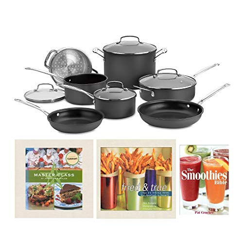 Cuisinart Chef's Classic 66-11 Nonstick Hard-Anodized Cookware Set with 3x...