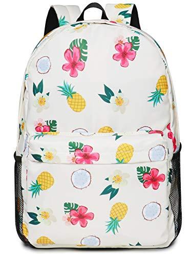Oflamn Zaino Scuola Superiore Media Ragazza Zaino Pc 15'' Pollici Leggero - Floral School Backpack (2.0 arcobaleno)