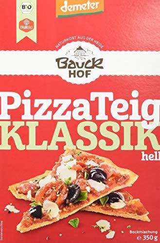 Bauckhof Pizzateig Weizen Hell Demeter , 6er Pack (6 x 350 g)