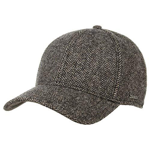 Stetson Gorra Plano Wool Cap Hombre - de Invierno Baseball Cerrado por atrás, con Visera, Forro, Forro otoño/Invierno - L (58-59 cm) marrón Oscuro