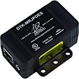 Ditek DTK-MRJPOES Power Over Ethernet Surge Protection for IP Cameras and NVRs, PoE, PoE + and Hi-PoE Compatible; Ethernet Data Speed without Signal Degradation