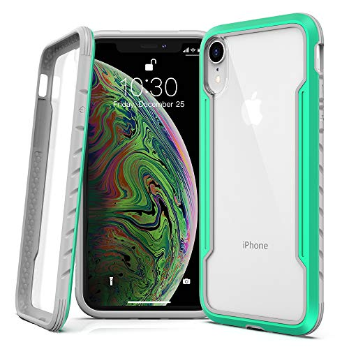 Lonlif for iPhone XR Case Protective Case, Military Grade Drop Tested, Clear PC Panel+TPU Frame, Multi-Layer Shockproof Fully Protection for iPhone XR 6.1 inch, Green+Clear