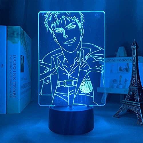 Lámpara 3D Anime para niños Anime Ataque a Titán 3D Lámpara Jean Kirstein Luz para dormitorio Decoración Niños Regalo Ataque a Titán LED Noche Luz Jean Kirstein-Touch