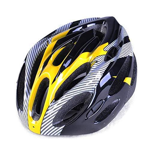 CZCJD Casque De Vélo180G Ultralight Imitate Carbon Route Vélo Casque Endurance Vélo Vélo Sécurité Sport Casque Racing 54-62 Cm,Jaune
