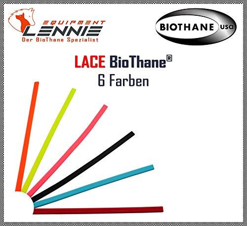 BioThane® Meterware, Beta Lace, ca. 4,6 mm breit, ca. 1,8 mm dick, viele Farben, Schwarz