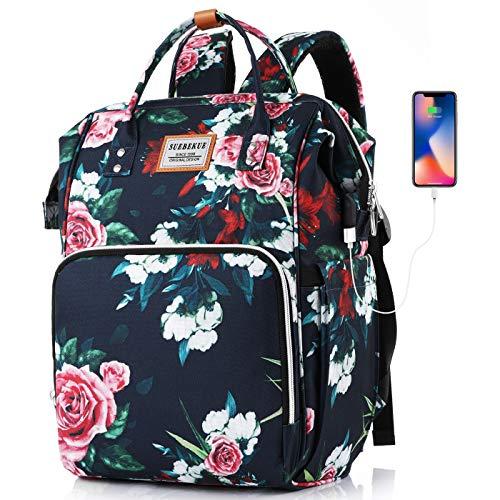 SUEBEKUE Rucksack Damen,Schulrucksack Mädchen Teenager Tagesrucksack Frauen Rucksack Laptop mit 15.6 Zoll Laptopfach und RFID Schutz für Studium Alltag Universität Freizeit Reisen