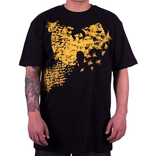 WU Wear WU Swarm T-Shirt, WU Tang Clan Urban Streetwear Fashion Chemise, Hip Hop, pour Hommes, Noir Taille XL, Couleur Black