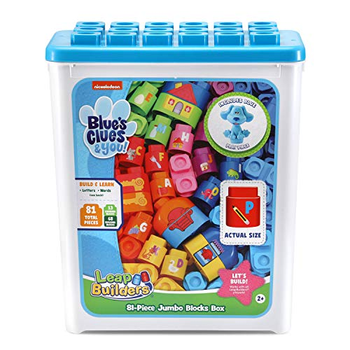 LeapFrog LeapBuilders Blue's Clues and You! 81-Piece Jumbo Blocks Box