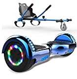 SOUTHERN WOLF Hoverboard Go Kart, Scooter Elettrico autobilanciato, luci a LED Colorate Integrate e...
