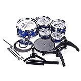 Batería para Niños Niños Jazz Conjunto Kit Musical Education Instrument Toy 5 Tambores + 1Cymbal con pequeños Sticks Sticks Percussion Instrumento para Niños Pequeños ( Color : Azul , Size : Onesize )