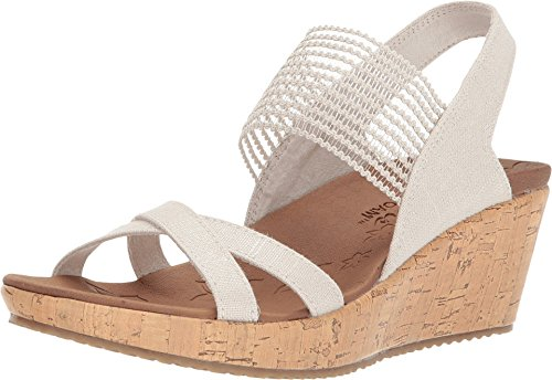 Skechers Damen Beverlee - High Tea Sandalen, Beige (Natural), 39 EU