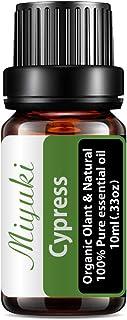 Miyuki Cypress Essential Oil Organic Plant & Natural 100% Pure Therapeutic Grade Aromatherapy Cypress Oil for Diffuser, Hu...
