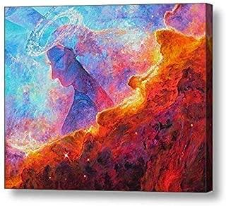 "Star Dust Angel - 11.25""H x 14""W Canvas Print"
