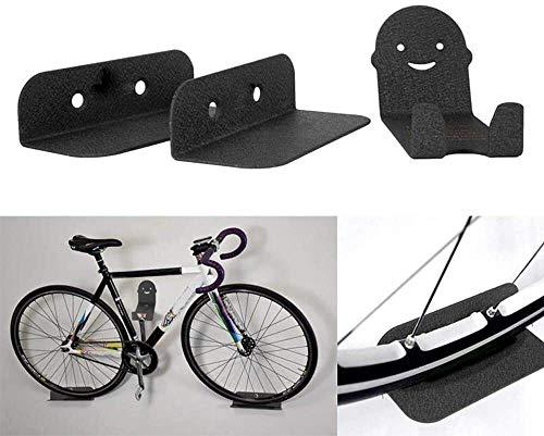 DSENIW QIDOFAN - Soporte de pared para bicicleta, carga máxima de 25 kg, soporte de pared para garaje, soporte para bicicleta, soporte para garaje o casa (color: negro, tamaño: un tamaño)