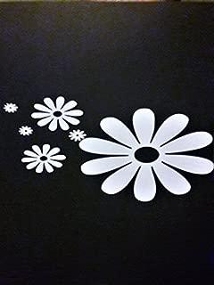 Chase Grace Studio Daisy Flower Hippie Free Spirit Vinyl Decal Sticker|White|Cars Trucks Vans SUV Laptops Wall Art|7.5