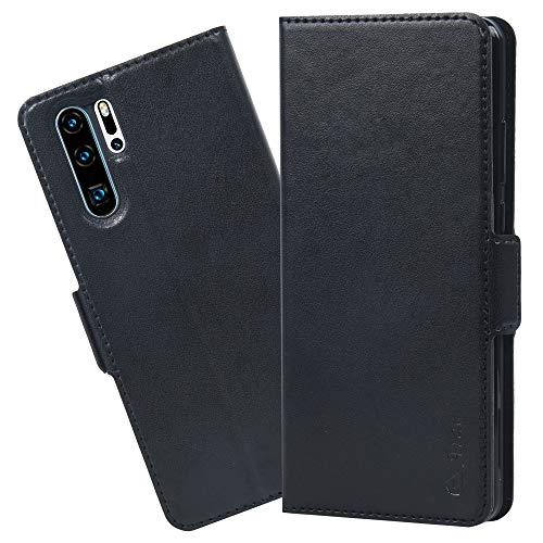 Arae Hülle Kompatibel Mit Huawei P30 Pro, Handyhülle Huawei P30 Pro Tasche Leder Flip Cover Brieftasche Etui Schutzhülle für Huawei P30 Pro - Schwarz