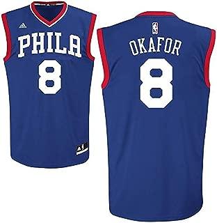 NBA Jahlil Okafor Philadelphia 76ers #8 Youth Road Jersey Blue
